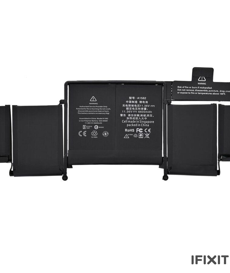 باتری مک بوک 13 اینچ ۲۰۱۵ مدل A1502 - مدل باتری A1582