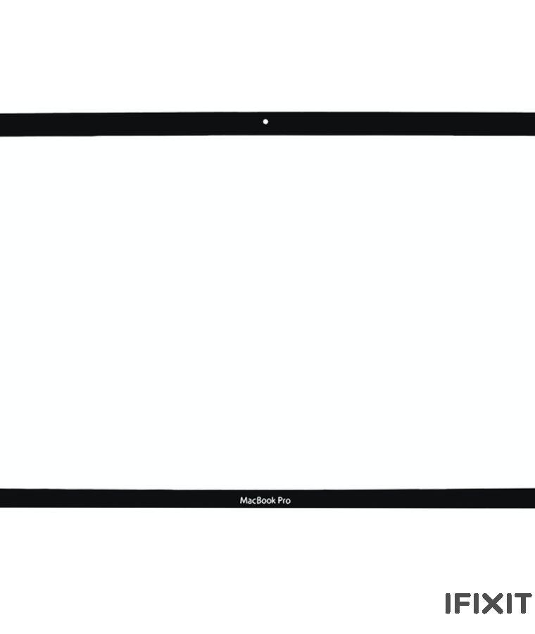 گلس ال سی دی مک بوک پرو ۱۵ اینچ ۲۰۰۹-۲۰۱۲ مدل A1286 (شیشه رویی)